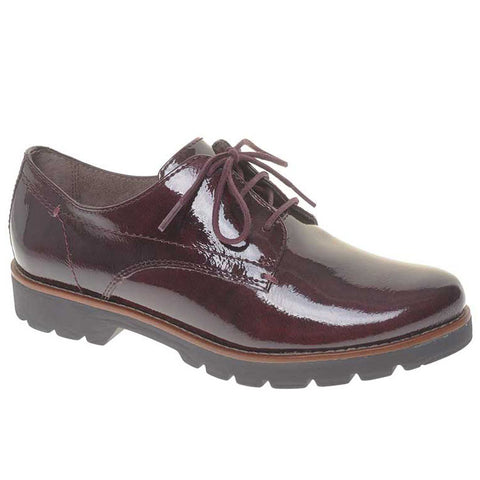 Jana 23704 Lace up leather shoe