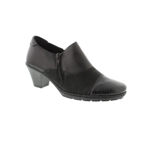 Rieker 57173 Leather Ankle Shoe