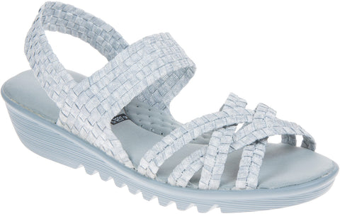 Adesso Flair Women's Elastic Weave Wedge Sandal