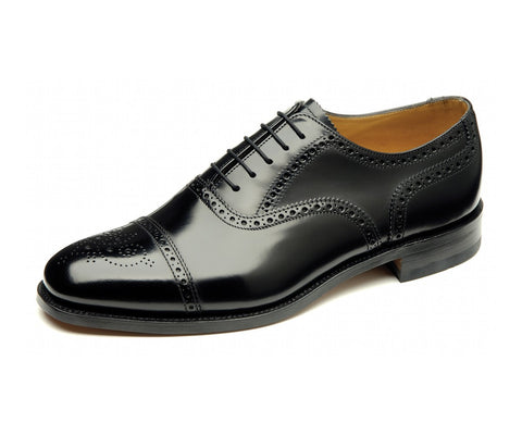 Loake 201 Semi Brogue Oxford - Mens Shoes - Westwoods footwear