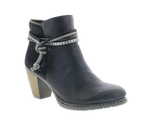 Rieker Z1580 Women's Heeled Ankle Boot