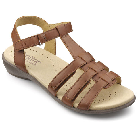 Hotter Sol Women's Wide EE Fit Velcro Sandal
