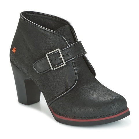 Art 1141 Gran Via Wax Black Women's Ankle Boot