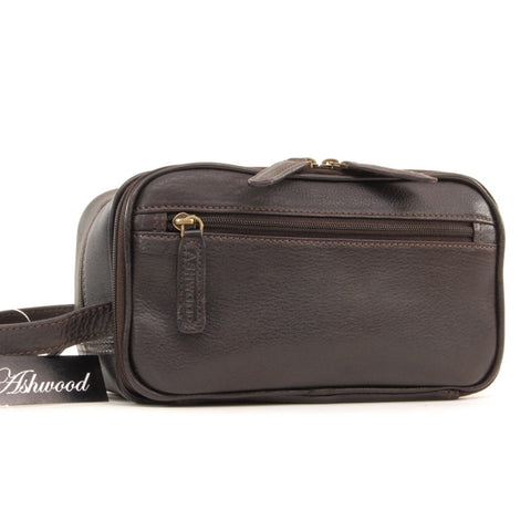 Ashwood 2080 Leather Wash Bag