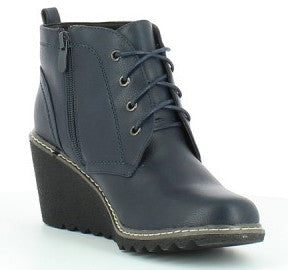 Heavenly Feet Snapper Womens Wedge Ankle Boot