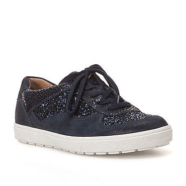 Caprice 23650 Womens Casual Glitter Lace up Trainer