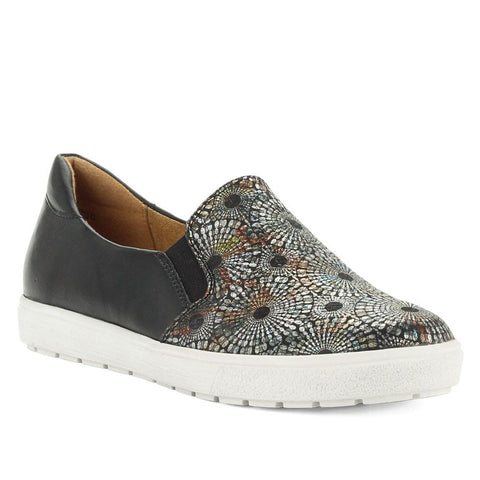 Caprice 24662 Womens Black Multicolour Slip on Shoe