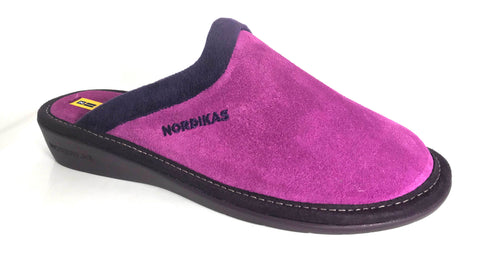 Nordikas 234 Natala Women's Mule Slip On Suede Slipper