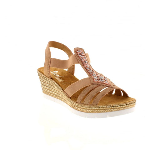 Rieker 61913 Women's Wedge Sandal