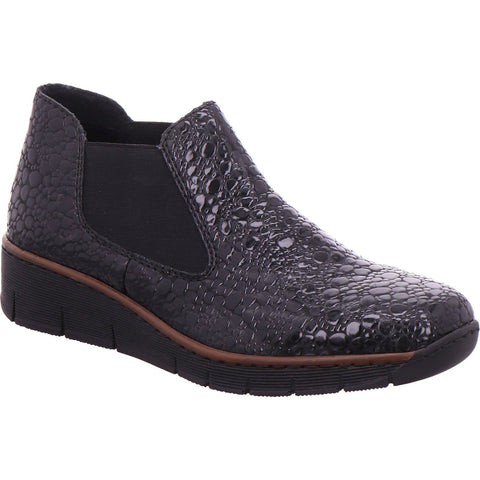 Rieker 53790 Ladies Jodphur Boot with Wedge