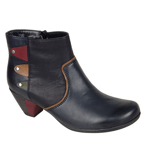 Rieker Y7273 Womens Heeled Ankle Boots