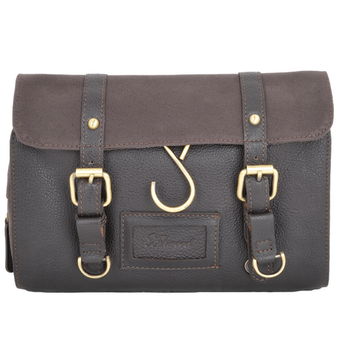 Ashwood 7010 Leather & Canvas Washbag