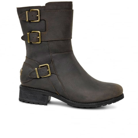 UGG Wilcox Leather Biker Style Ankle Boot