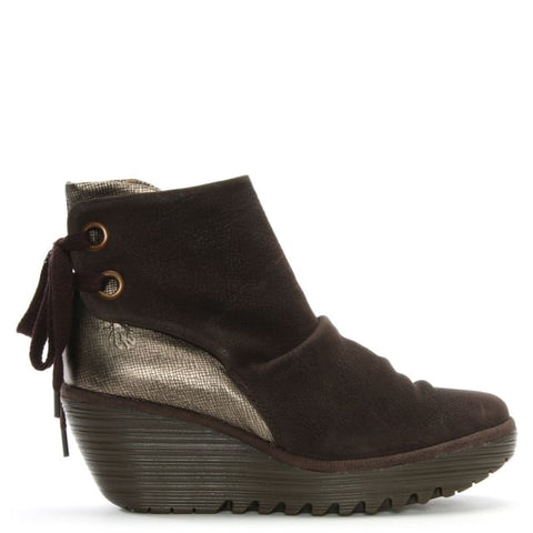 Fly London Yama Womens Wedge Ankle Boot