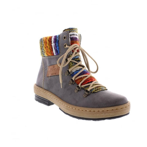 Rieker Z6743 Womens Knitted Ankle Boots