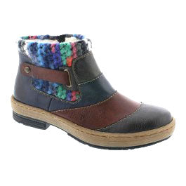 Rieker Z6782 Womens Knitted Ankle Boots