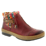 Rieker Z6784 Womens Knitted Ankle Boots