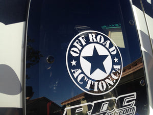 Off Road Action Die Cut Decals
