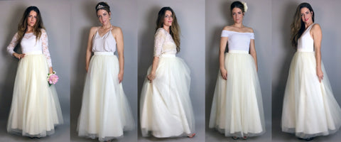 One Skirt 5 Ways: The Ivory Tulle Wedding Skirt