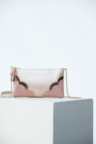 The Crossbody Bag in Rose Gold