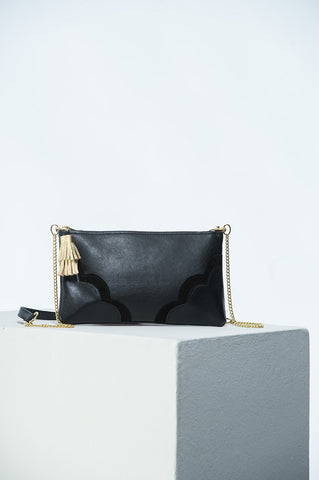 The Crossbody Bag in Black and Gold