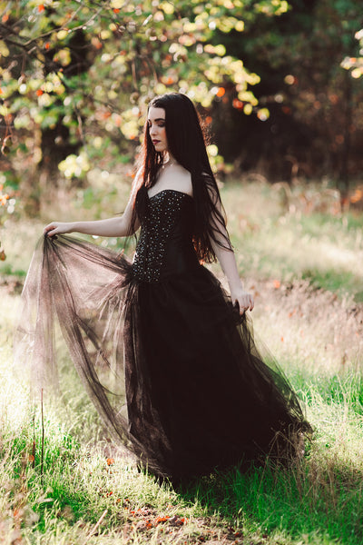 The Midnight Masquerade Black Ball Gown