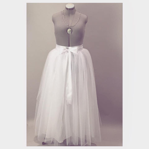 White Tulle Wedding Skirt Maxi/Floor Length