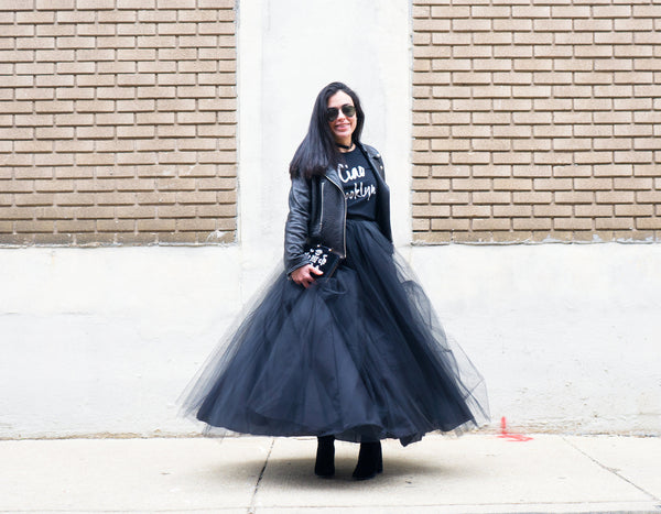 The Black Tulle Maxi Skirt Full Length Tutu