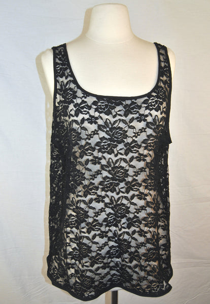 Black Lace Sheer Tank