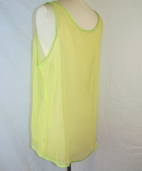 Acid Neon Green Chiffon Sheer Tank
