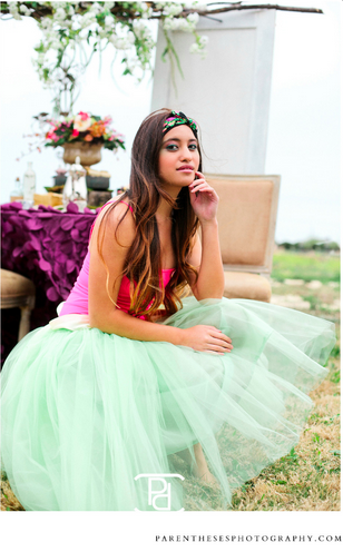 Pastel Mint Green Tulle Tutu Skirt Knee Length/Midi with Ivory Satin Sash