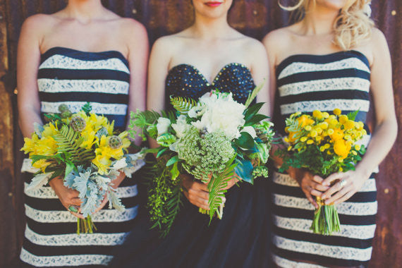 The Black and Gold Bridal Bustier Gown/Wedding Dress
