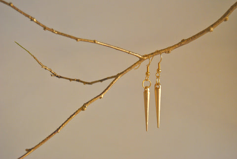 The Bowie Golden Spike Earrings