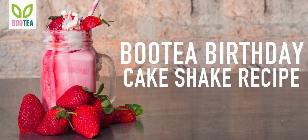 Celebrate Our Birthday with Our Bootea Birthday Cake Shake