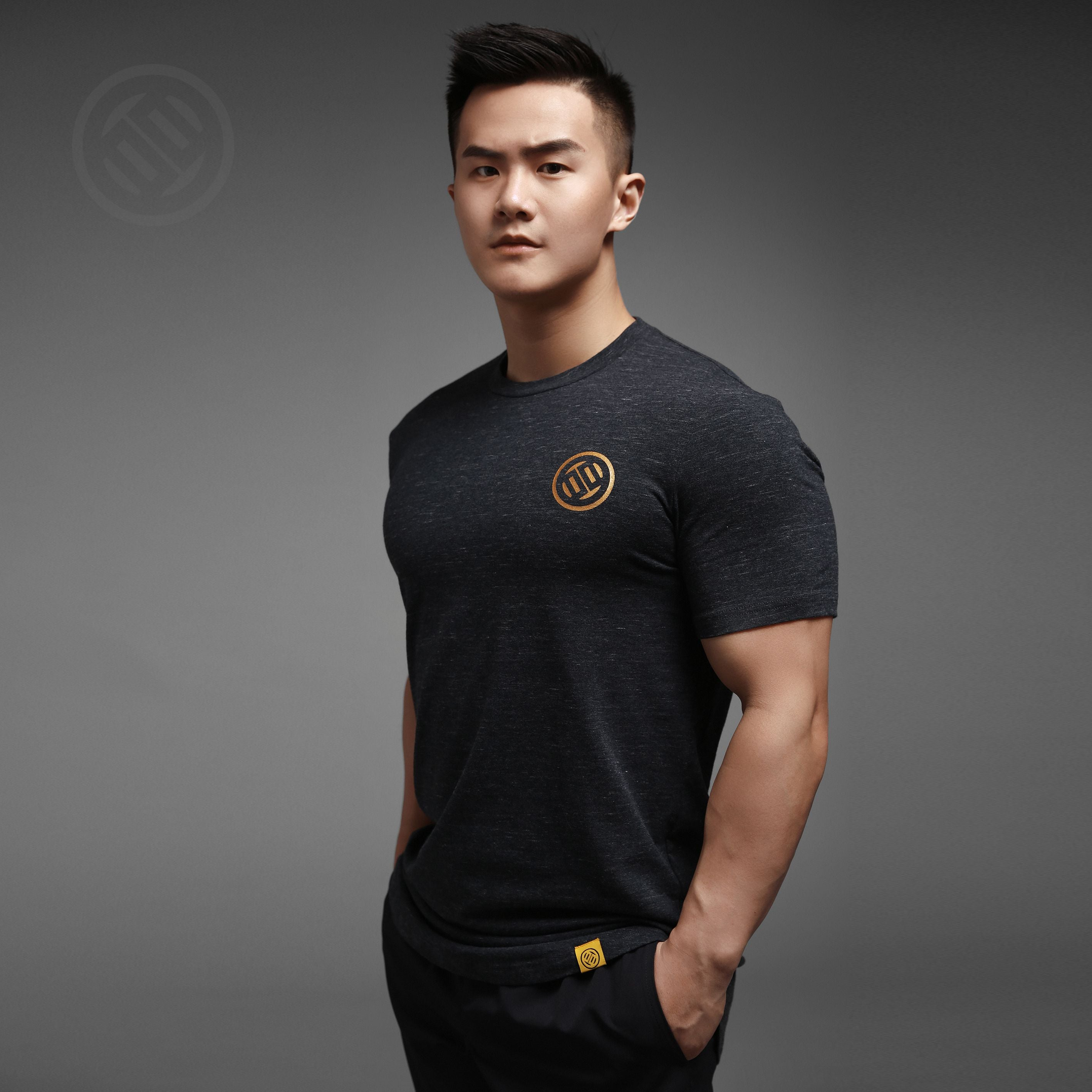 LUXIAOJUN Training T-Shirt Gold Logo