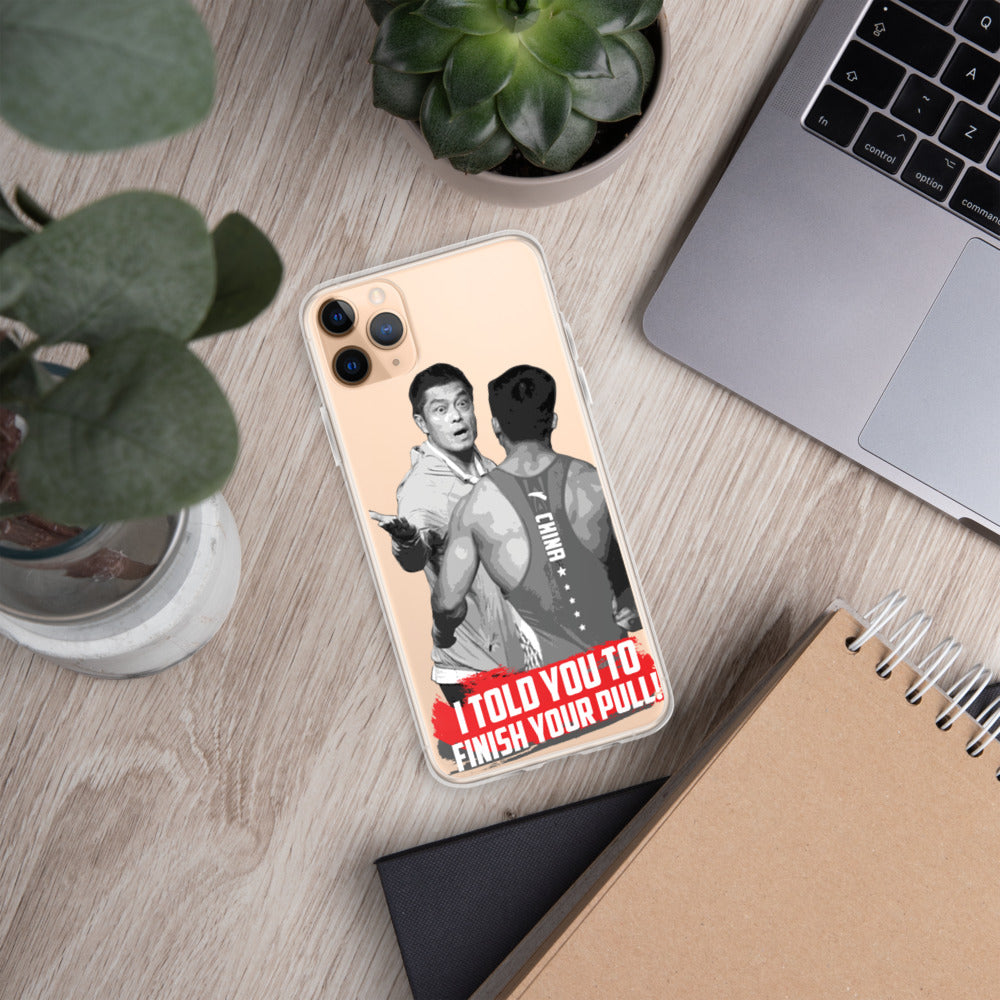 Finish Your Pull Meme iPhone Case - LUXIAOJUN Weightlifting