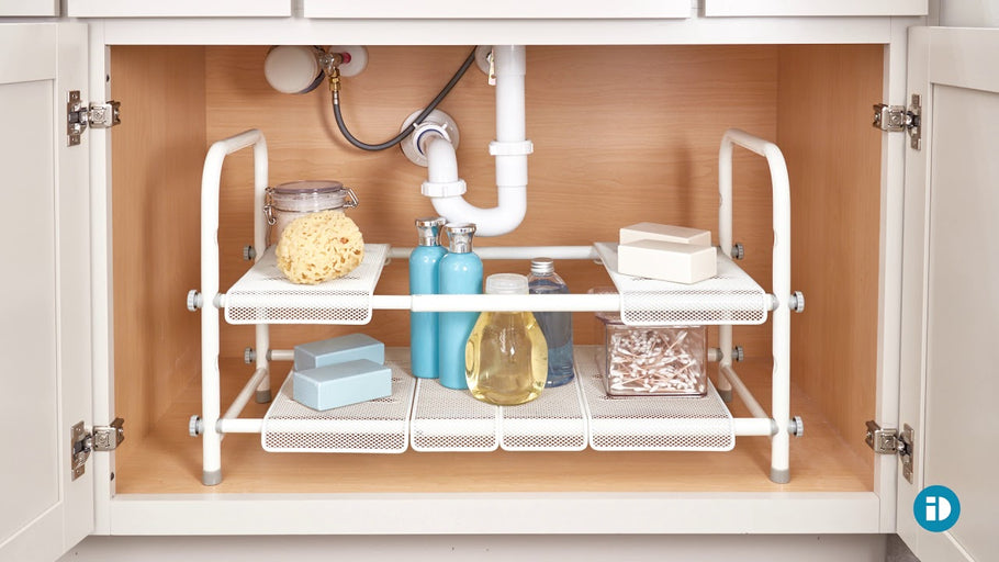 Our Cabrini under sink organizer is perfect for maximizing the space under your sink! It's expandable with six moveable shelves, so you can build the perfect ...