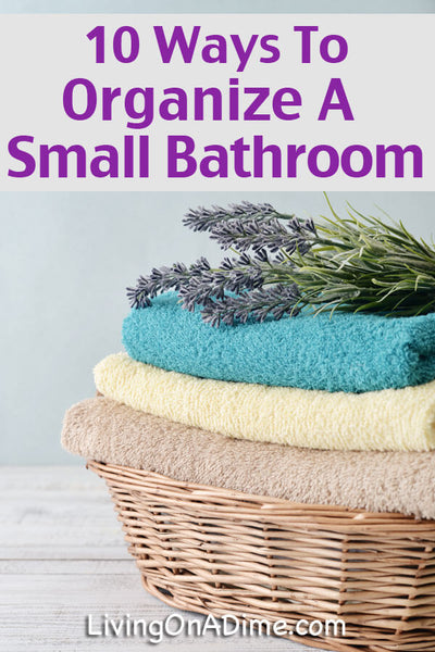 It is possible to organize a small bathroom so that it is efficient and less cluttered