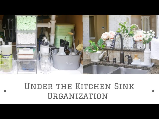 How to Organize Under the Kitchen Sink: Sharing ideas on Under the Kitchen Sink Storage & Organization in this video