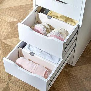 Great 4 pack adjustable drawer dividers organizer separators good grips dresser organizer for bedroom bathroom closet baby drawer desk kitchen storage