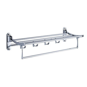 Latest garbnoire 202 grade stainless steel 2 feet long folding bathroom towel rack swivel towel bar stainless steel wall mounted shelf organization for storage hanging holder above toilet hotel home
