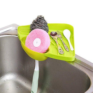1 Pcs Kitchen Sink Suction Holder Caddy Sponge Holder Scratcher Holder Cleaning Brush Holder Sink Organizer,Green