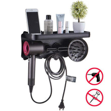 Load image into Gallery viewer, Shop for dyson supersonic hair dryer wall mount holder dyson hair dryer bracket for dyson hair dryer accessories holder punch free dyson hair dryer holder bathroom storage rack l