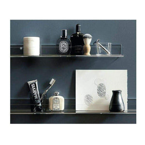 Buy clear heavy duty floating shelves pack 8 15 inches acrylic bathroom shelf shower caddy nail polish cosmetics makeup organizer kids room wall decor small bookshelf display extra strong