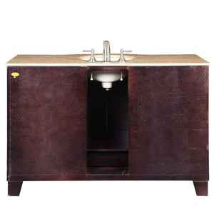 Related silkroad exclusive hyp 0703 t uwc 55 travertine top single white sink bathroom vanity with espresso cabinet 55 dark wood