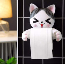 Load image into Gallery viewer, Great c s toilet paper holder dispenser tissue roll towel holder stand funny animal wall mount bathroom kitchen home decor cat