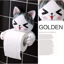 Load image into Gallery viewer, Get c s toilet paper holder dispenser tissue roll towel holder stand funny animal wall mount bathroom kitchen home decor cat
