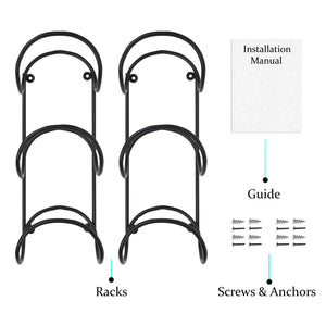 Shop here wallniture wrought iron metal towel rack solid quality wall mountable for bathroom storage large enough to fit rolled bath beach towels black set of 2