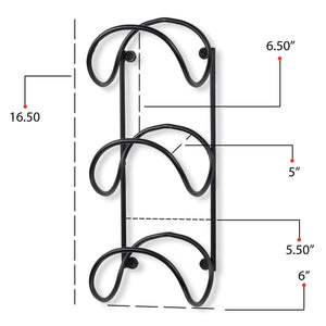 Storage wallniture wrought iron metal towel rack solid quality wall mountable for bathroom storage large enough to fit rolled bath beach towels black set of 2