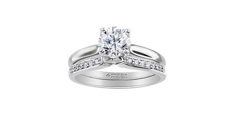 14k White Gold Canadian Diamond Solitaire Engagement Ring